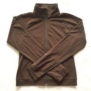 Brown lululemon zip up jacket